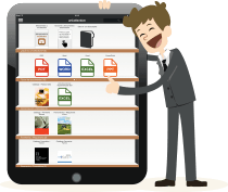 Find easily all the sales documents inside the tablets, iPads, mobile devices, iOS, Android and Windows